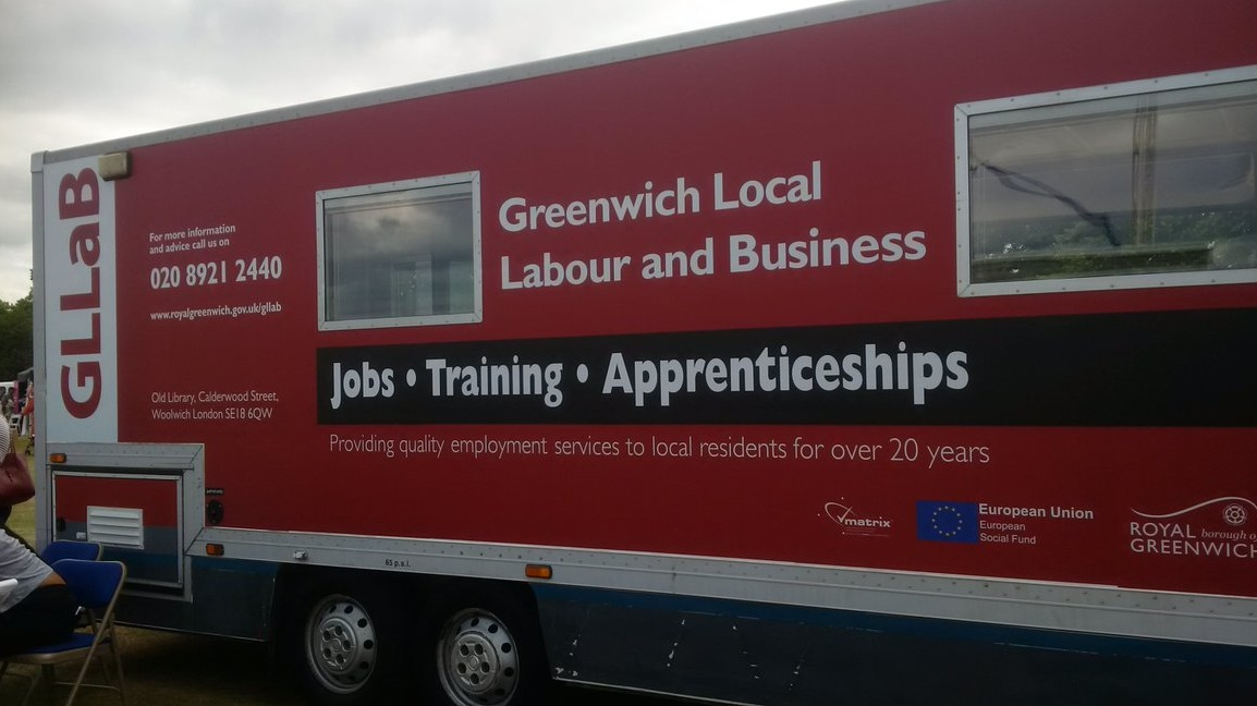 Greenwich Council job agency GLLaB advertising Zero Hour jobs