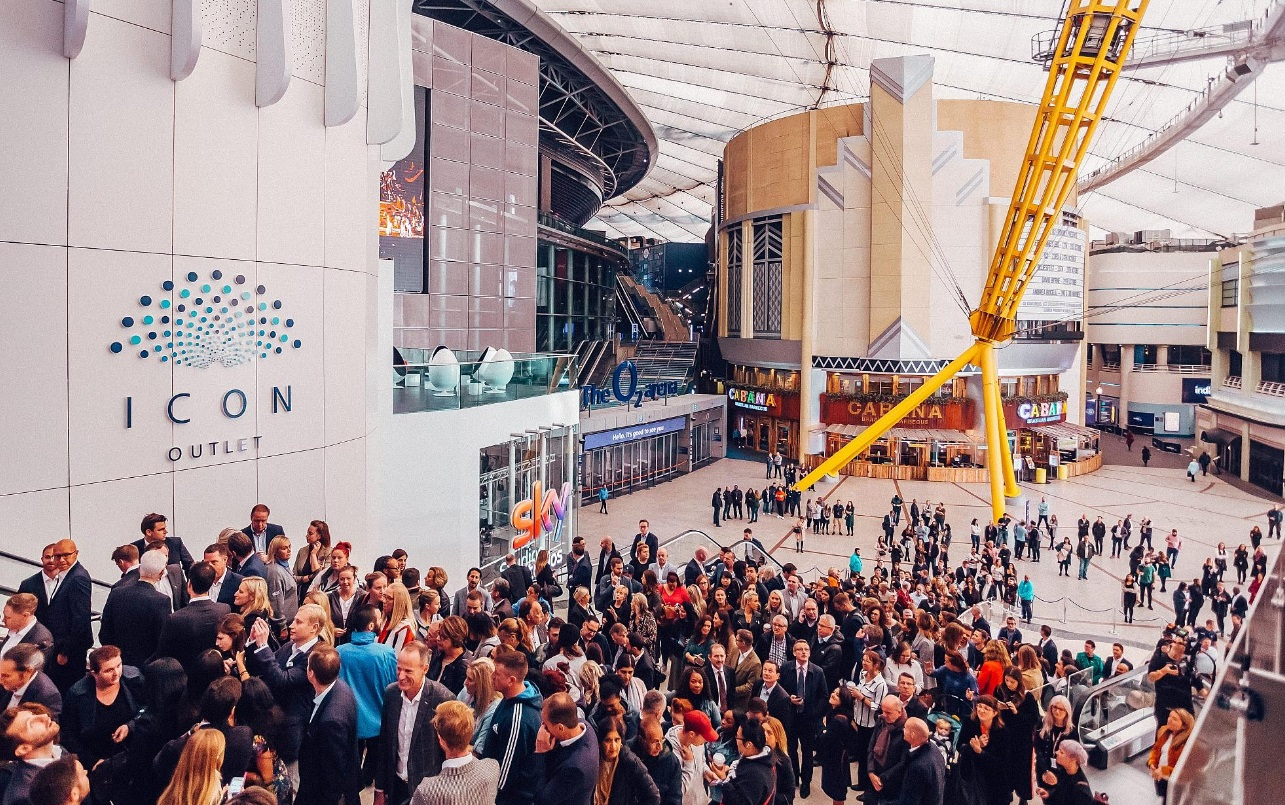 Icon outlet shopping centre at the o2 in Greenwich opens for sneak peek today and tomorrow