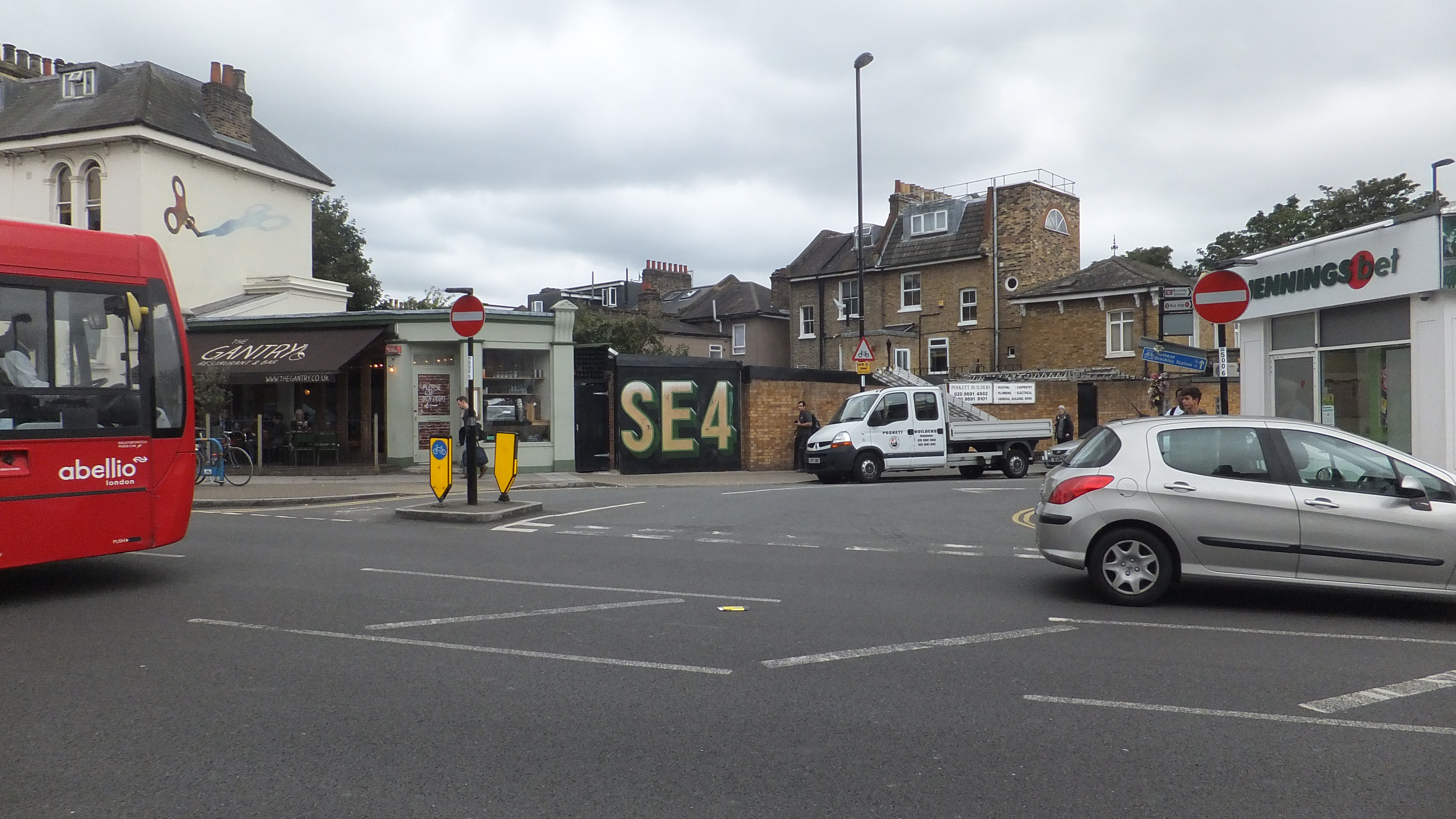 Pedestrian hit by car near Brockley station