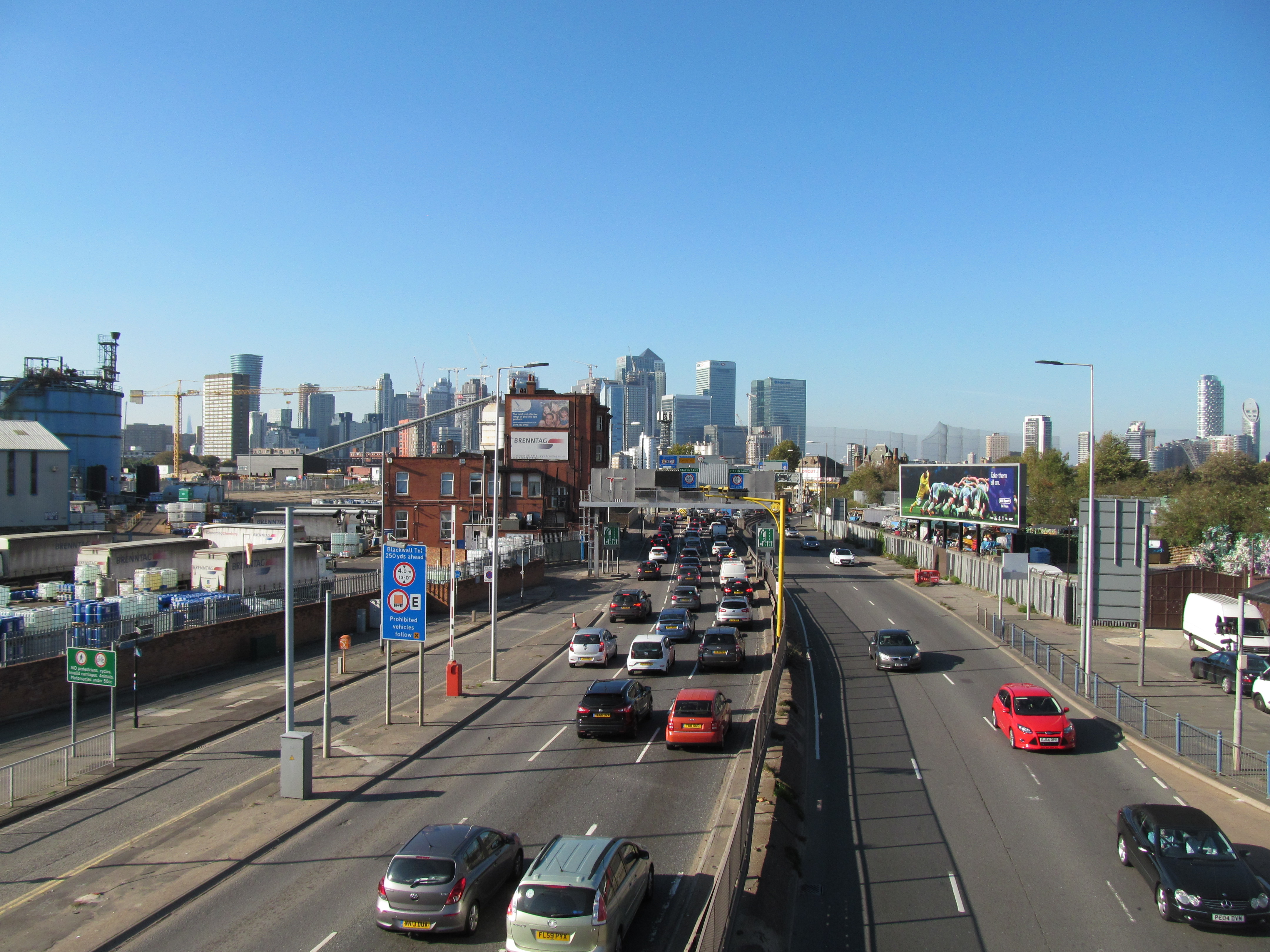 Dartford tunnel closure today leading to very busy Blackwall crossing