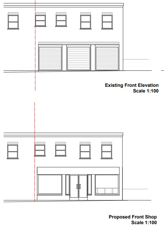 Garage Conversion To Cafe Plan By Plumstead Station Submitted