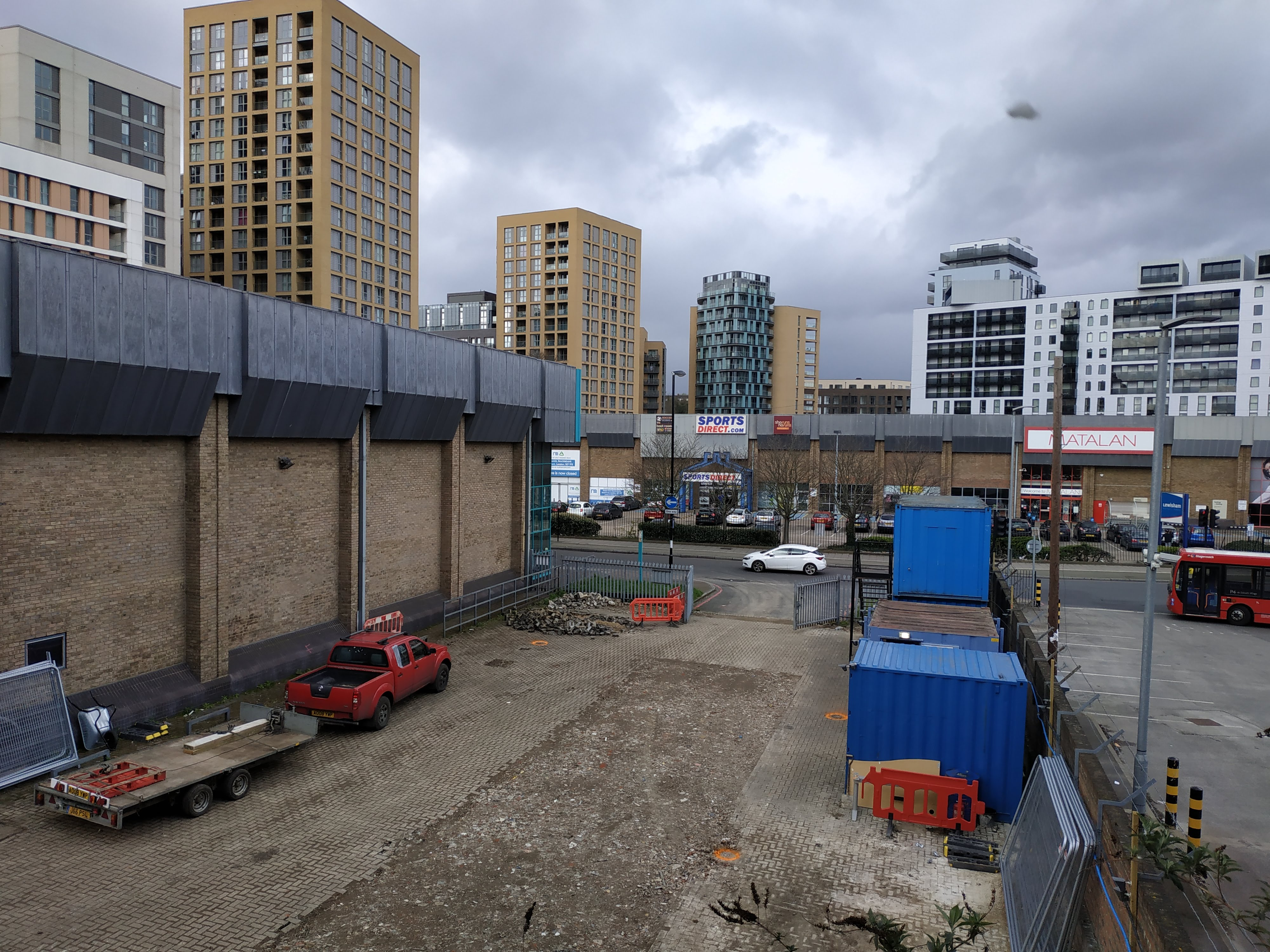 Lewisham New Station Entrance And Taller Tower Coming Demolition Of Carpetright Begins Murky Depths