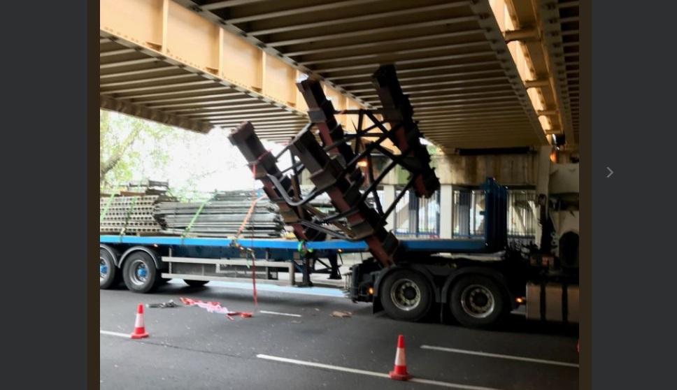Lorry hits bridge adding to rail issues
