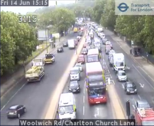 Gridlock hits Greenwich after M25 closure