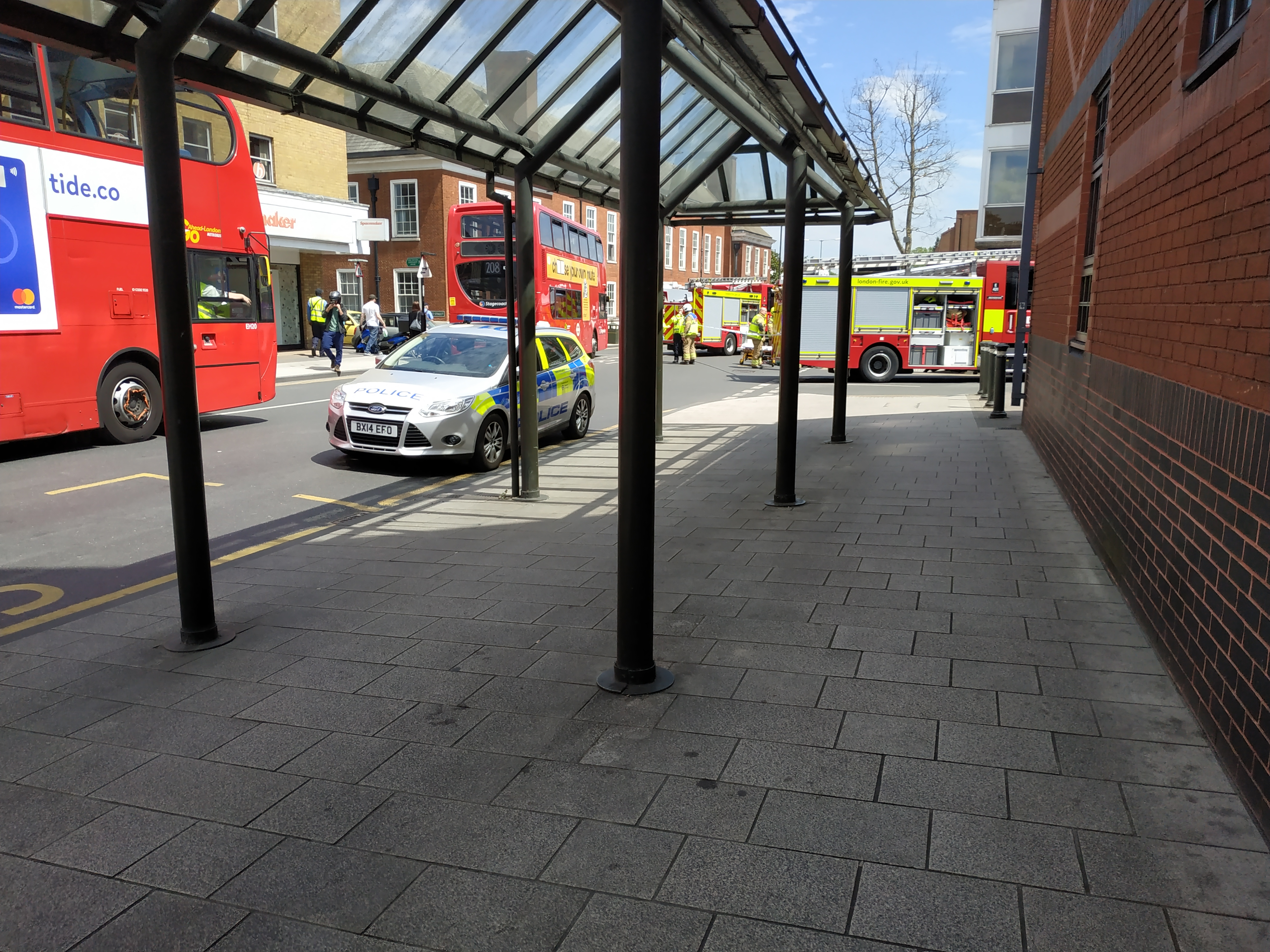 Accident in Bromley Town Centre