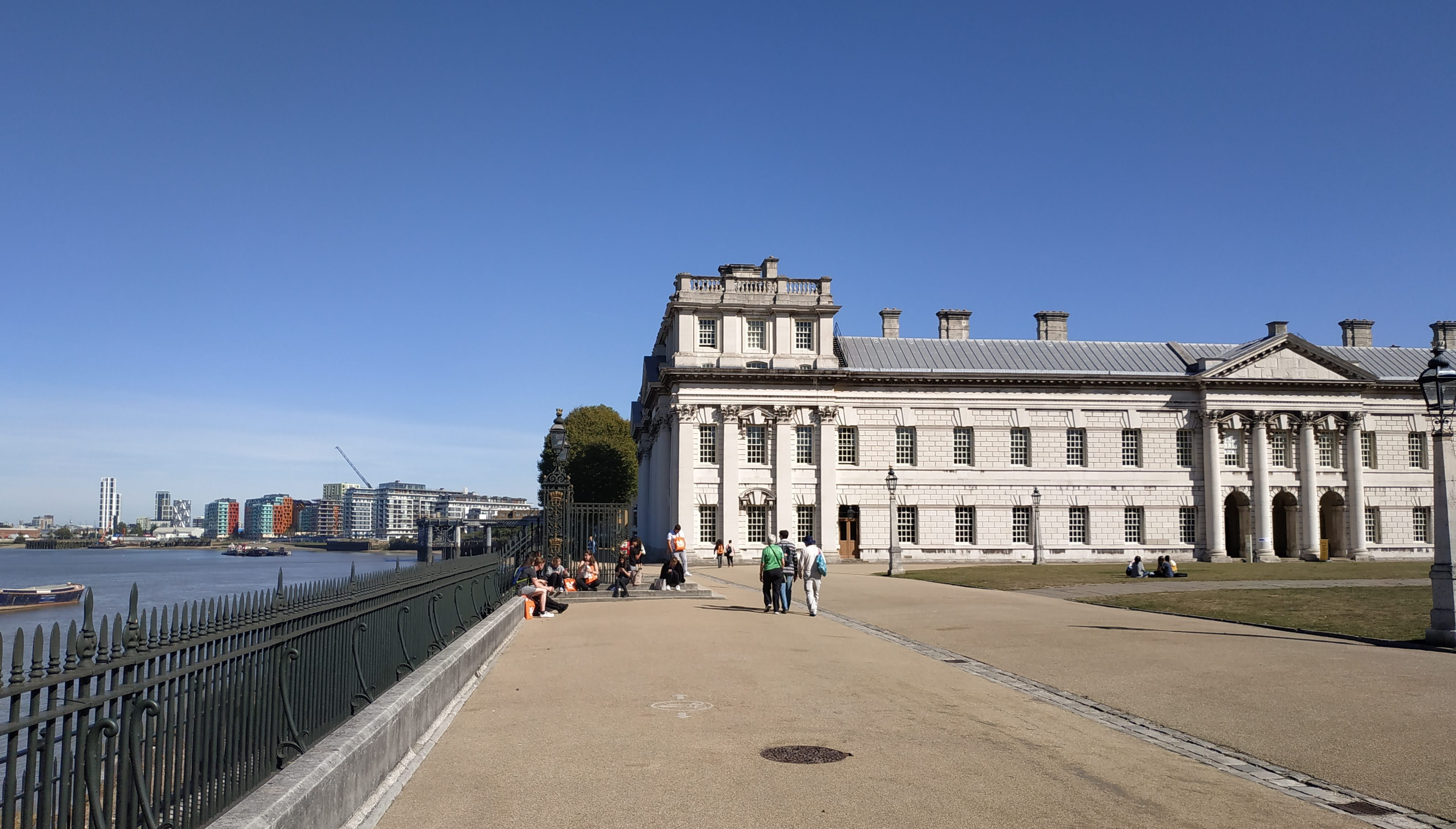 Calls to open Greenwich University's Old Naval College to ease Thames Walk crowds