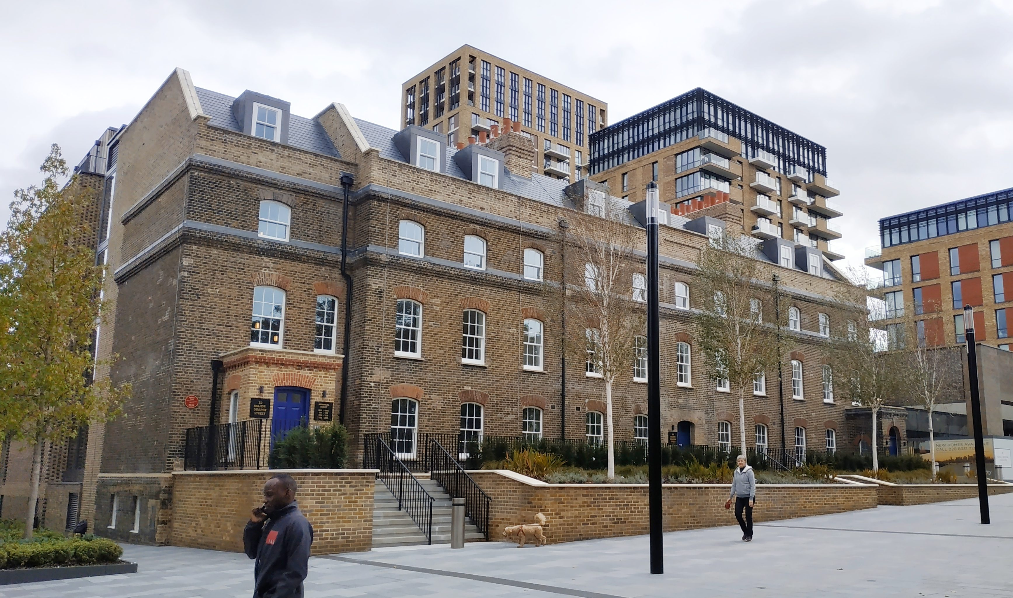 Listed Woolwich building threatened with demolition restored with new public space
