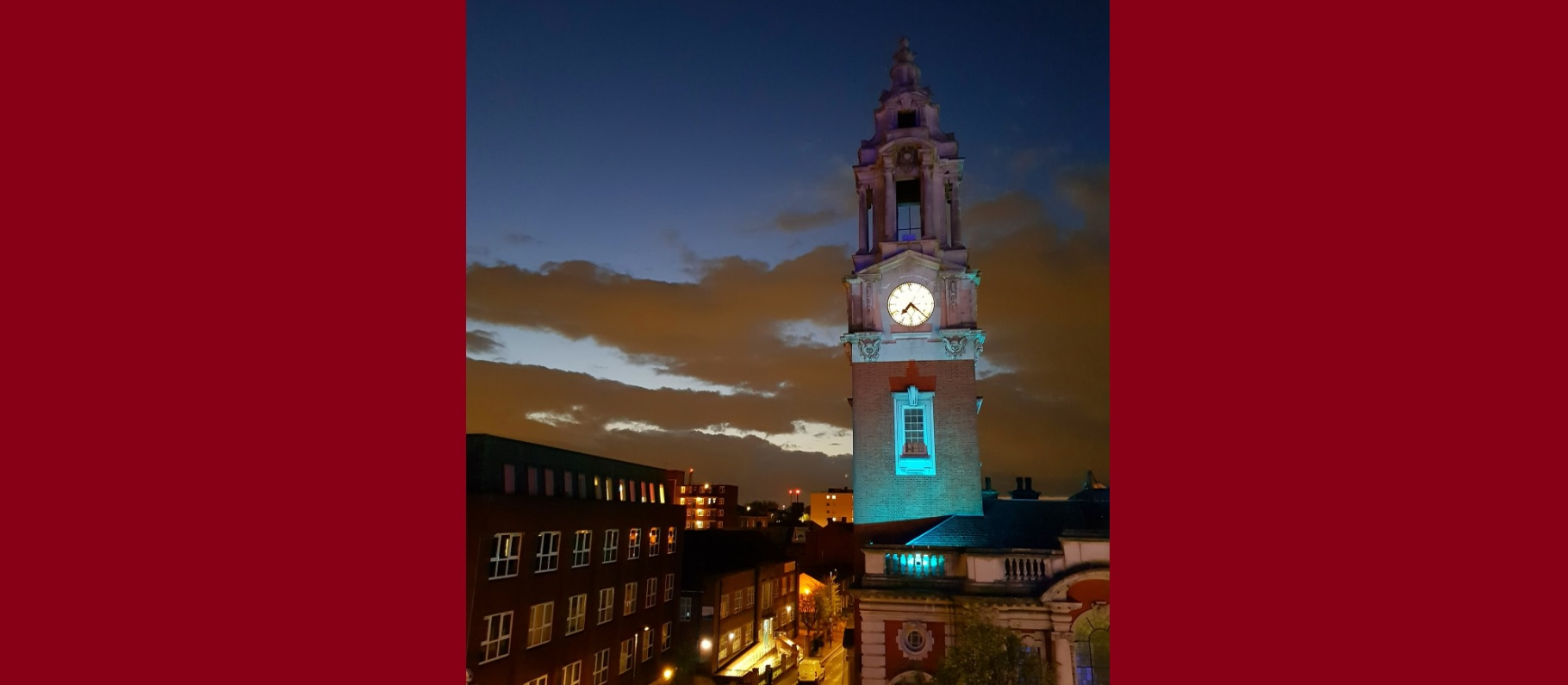 Woolwich Town Hall goes blue to show NHS support