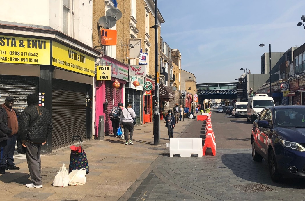 Lewisham borough begin work on pavement widening along Deptford High Street