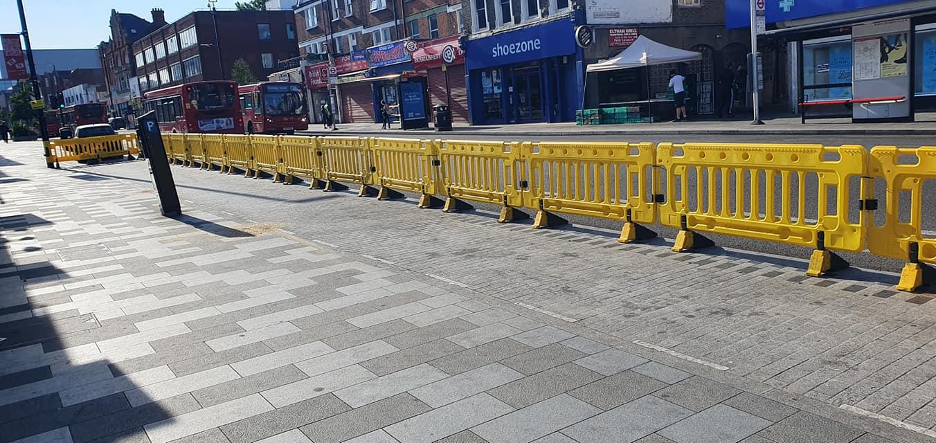Eltham High Street sees social distancing measures