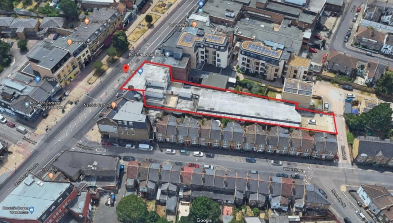 New flats planned behind Catford Poundland