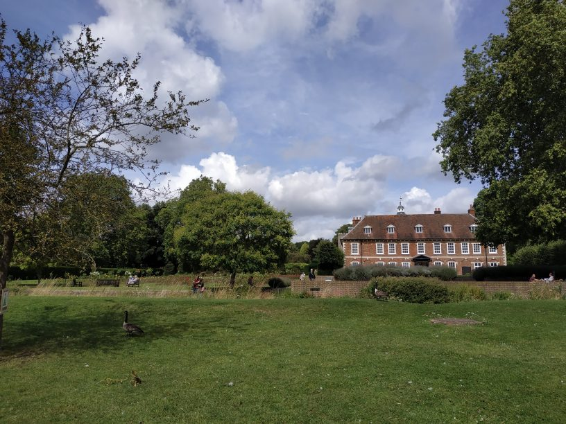 View towards Hall Place in Bexley borough