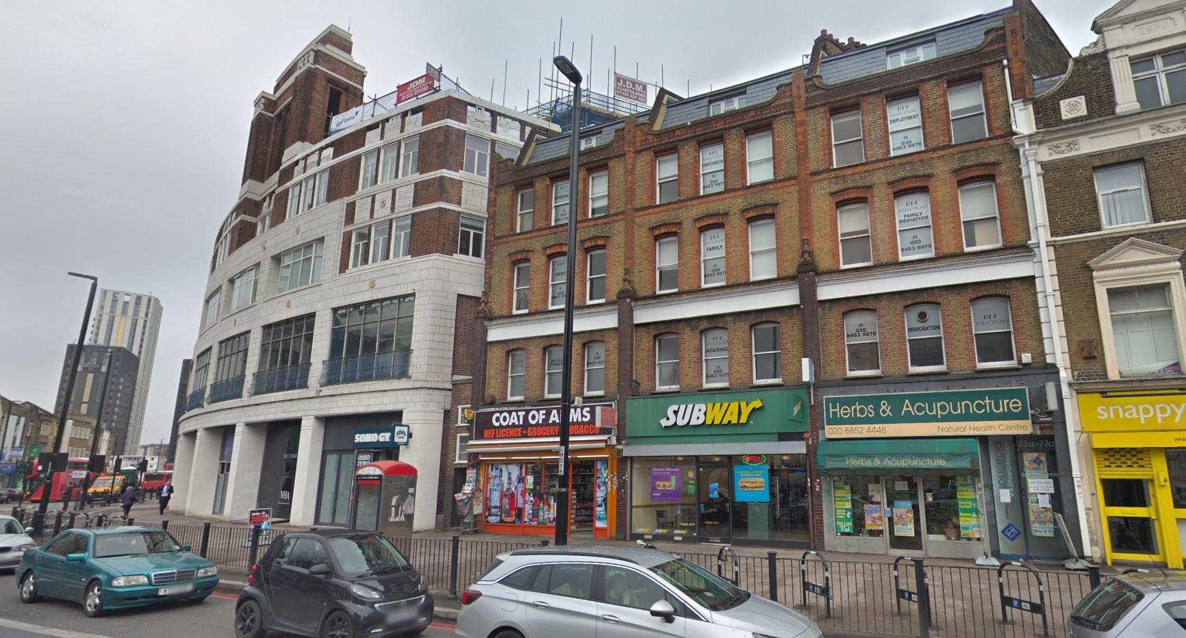Plan to convert Lewisham High Street building's upper floors into 24 flats