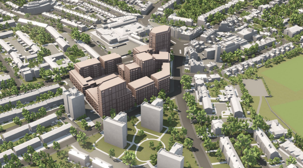Leegate centre redevelopment revised to 600 homes