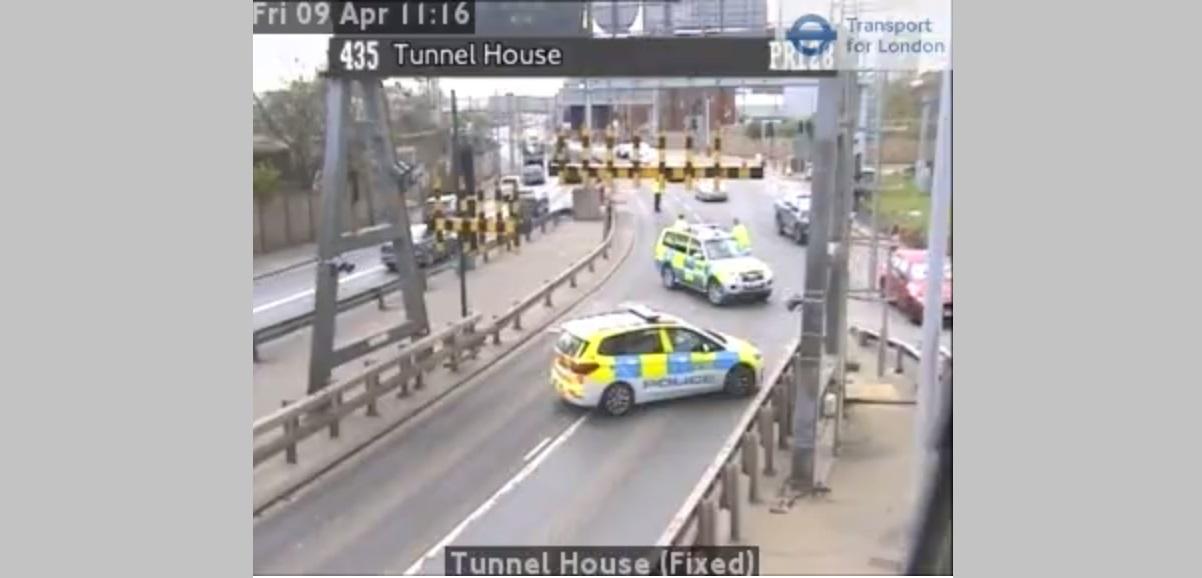 Fire in Blackwall Tunnel