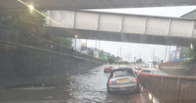 Blackwall tunnel closed as flooding hits numerous areas